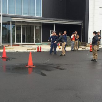 We,63 employees including visitors, had a Fire Drill in the very first time here in AeroEdge on May 17th